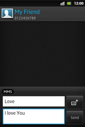 Sony ST27i Xperia Go - MMS - Sending pictures - Step 10