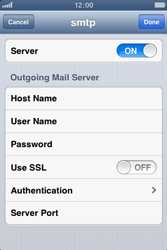 Apple iPhone 3GS - E-mail - Manual configuration - Step 20