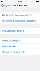 Apple iPhone SE - iOS 11 - Fehlerbehebung - Handy zurücksetzen - Schritt 7