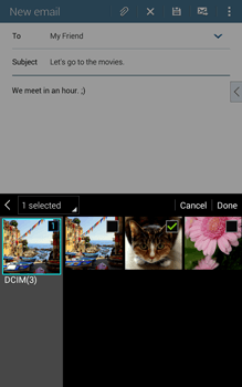Samsung T335 Galaxy Tab 4 8-0 - E-mail - Sending emails - Step 16