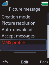 Sony W595 - MMS - Manual configuration - Step 6