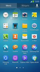 Samsung Galaxy S 4 LTE - Startanleitung - Installieren von Widgets und Apps auf der Startseite - Schritt 4