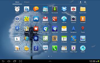 Samsung Galaxy Note 10-1 - Apps - Konto anlegen und einrichten - 2 / 2
