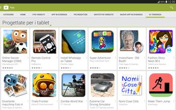 Samsung T805 Galaxy Tab S - Applicazioni - Installazione delle applicazioni - Fase 12