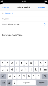 Apple iPhone 8 Plus - iOS 12 - E-mail - envoyer un e-mail - Étape 6