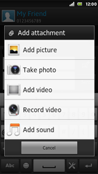 Sony ST25i Xperia U - MMS - Sending pictures - Step 12