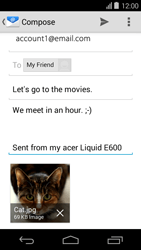 Acer Liquid E600 - Email - Sending an email message - Step 15