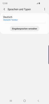 Samsung Galaxy S10e - Startanleitung - So fügen Sie eine Tastatursprache hinzu - Schritt 9