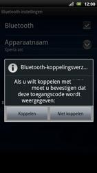 Sony Ericsson Xperia Arc S - Bluetooth - Headset, carkit verbinding - Stap 9