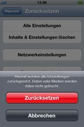 Apple iPhone 3GS - Fehlerbehebung - Handy zurücksetzen - 0 / 0