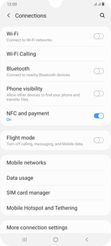 Samsung Galaxy A70 - Internet and data roaming - How to check if data-connectivity is enabled - Step 5