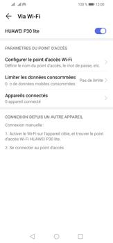 Huawei P30 Lite - WiFi - Comment activer un point d'accès WiFi - Étape 13