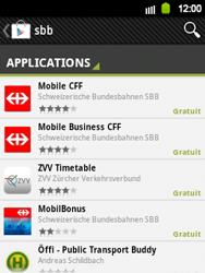 Samsung Galaxy Y - Applications - Installation d