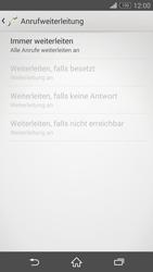 Sony Xperia Z3 - Anrufe - Rufumleitungen setzen und löschen - 8 / 9