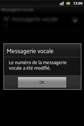 Sony ST27i Xperia Go - Messagerie vocale - configuration manuelle - Étape 9
