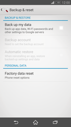 Sony Xperia Z3 Compact - Mobile phone - Resetting to factory settings - Step 5