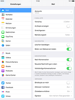 Apple iPad Pro 9.7 inch - E-Mail - Konto einrichten (outlook) - 9 / 11