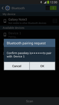 Samsung Galaxy Note III LTE - Bluetooth - Connecting devices - Step 7
