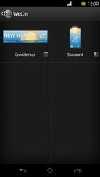 Sony Xperia T - Startanleitung - Installieren von Widgets und Apps auf der Startseite - Schritt 6