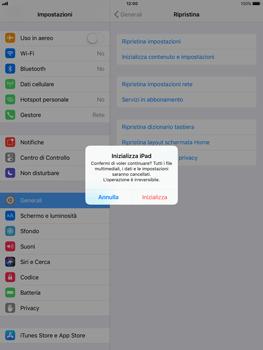 Apple iPad mini 2 iOS 11 - Dispositivo - Ripristino delle impostazioni originali - Fase 7