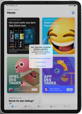 Apple iPad Pro 9.7 - iPadOS 13 - Apps - Einrichten des App Stores - Schritt 4