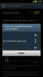 Samsung I9300 Galaxy S III - Internet - Ver uso de datos - Paso 6