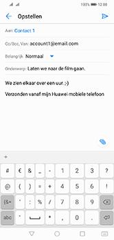 Huawei Y7 (2019) - E-mail - e-mail versturen - Stap 8