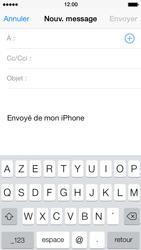 Apple iPhone 5 iOS 7 - E-mail - Envoi d