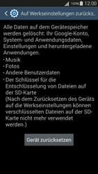 Samsung I9301i Galaxy S III Neo - Fehlerbehebung - Handy zurücksetzen - Schritt 9