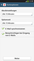 Samsung I9195 Galaxy S4 Mini LTE - E-Mail - Konto einrichten - Schritt 15
