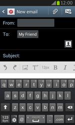 Samsung S7710 Galaxy Xcover 2 - E-mail - Sending emails - Step 8
