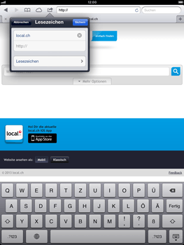 Apple iPad Retina - Internet und Datenroaming - Verwenden des Internets - Schritt 12