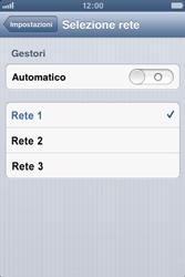 Apple iPhone 4S - Rete - Selezione manuale della rete - Fase 8