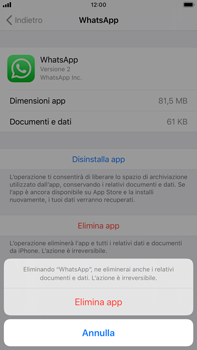 Apple iPhone 8 Plus - iOS 13 - Applicazioni - Come disinstallare un