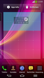 LG D955 G Flex - Startanleitung - Installieren von Widgets und Apps auf der Startseite - Schritt 6