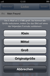 Apple iPhone 4 S - E-Mail - E-Mail versenden - 12 / 13