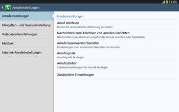 Samsung Galaxy Tab 3 10-1 LTE - Anrufe - Anrufe blockieren - 6 / 14