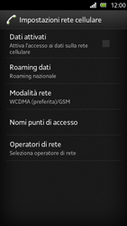 Sony Xperia U - Internet e roaming dati - Configurazione manuale - Fase 6