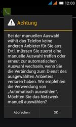Alcatel One Touch Pop C3 - Netzwerk - Manuelle Netzwerkwahl - Schritt 9