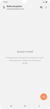 Samsung Galaxy A50 - E-mail - 032c. Email wizard - Outlook - Étape 5