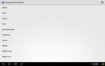 Samsung Galaxy Tab 2 10-1 - Internet - Manuelle Konfiguration - 12 / 25