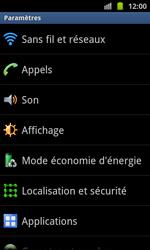 Samsung I8530 Galaxy Beam - Wifi - configuration manuelle - Étape 3
