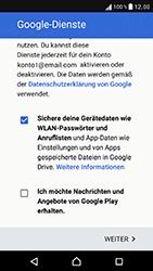Sony Xperia XZ - Apps - Konto anlegen und einrichten - 18 / 22