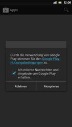 Sony Xperia S - Apps - Einrichten des App Stores - Schritt 15