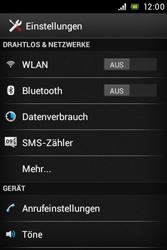 Sony Xperia E - Anrufe - Rufumleitungen setzen und löschen - Schritt 4