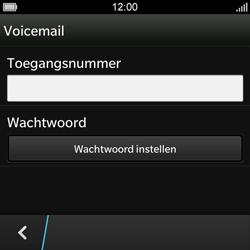 BlackBerry Q10 - Voicemail - Handmatig instellen - Stap 7