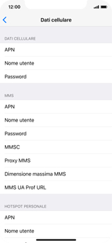 Apple iPhone X - Internet e roaming dati - Configurazione manuale - Fase 7