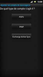 Sony MT27i Xperia Sola - E-mail - Configuration manuelle - Étape 7