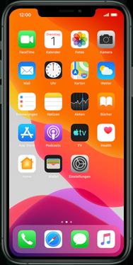 Apple iPhone XS - iOS 13 - Apps - Einrichten des App Stores - Schritt 1