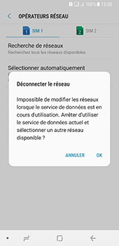 Samsung Galaxy A8 (2018) - Réseau - Sélection manuelle du réseau - Étape 12